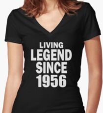 LIVING LEGEND SINCE 1956 Women's Fitted V-Neck T-Shirt