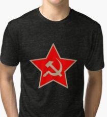 Communist Star; Hammer And Sickle; Hammer Und Sichel Tri-blend T-Shirt