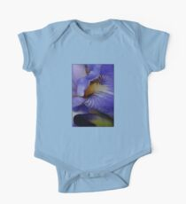 blue iris flower and bud abstract One Piece - Short Sleeve