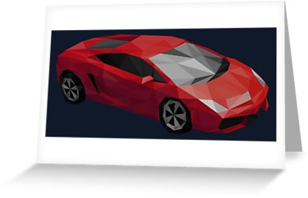Low Poly Sports Car by DigitalShards
