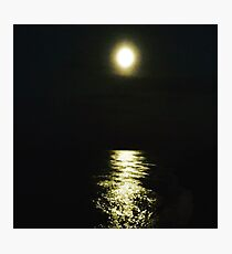 Moonlight on the sea Photographic Print