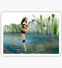 Fireflies on the Enchanted Lake - Arual Sticker
