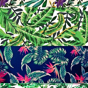 GREEN TROPICAL COLLAGE by bondandreabond