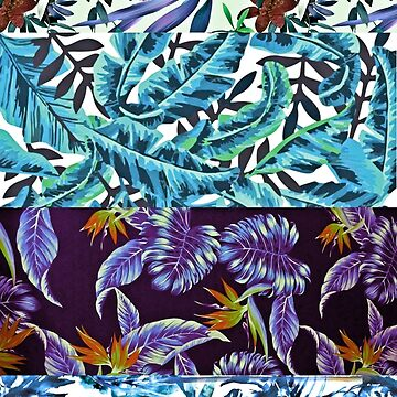 BLUE TROPICAL COLLAGE by bondandreabond