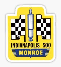 Vintage Indianapolis 500 decal Monroe Sticker