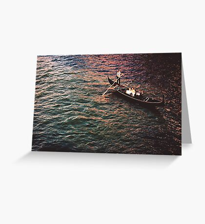 Gondola on The Grand Canal Greeting Card