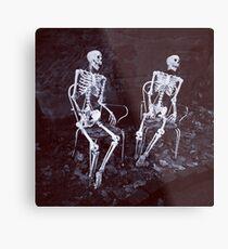 Skeletons Metal Print