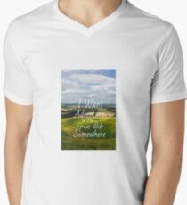 I Want Adventure In The Great Wide Somewhere Men's V-Neck T-Shirt