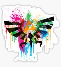 Hylian Paint Splatter Sticker