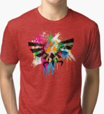 Hylian Paint Splatter Tri-blend T-Shirt