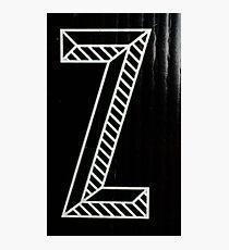 Vancouver Alphabet - Z Photographic Print