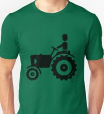 Farmer With Tractor Unisex T-Shirt