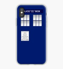 Police Box New Blue iPhone Case