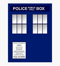 Police Box New Blue Photographic Print
