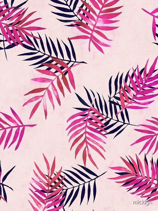 Quot Pink Palm Pattern Quot By Micklyn Redbubble