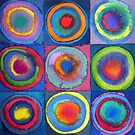 Circles - abstract watercolour by Francesca Whetnall by Cecca-Designs