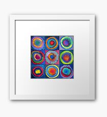 Circles - abstract watercolour by Francesca Whetnall Framed Print
