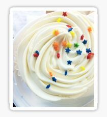Vanilla Stars and Swirls - Cupcake Lovers - Gift for Foodies - Food Blogger Present Sticker