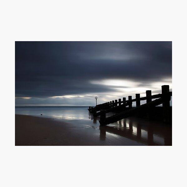 groyne, aberdeen beach Photographic Print