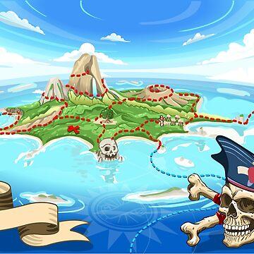 Treasure-Island-Landscape-Fantasy by aurielaki