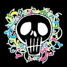 Neon Graffiti Schädel von JCDesignsUK