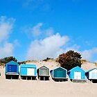 Abersoch Beach huts by Margaret Brown