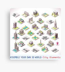 Game-Set-01-Building-Isometric Canvas Print