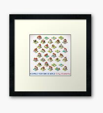 Game-Set-03-Building-Isometric Framed Print