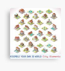 Game-Set-03-Building-Isometric Canvas Print