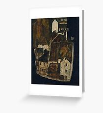 Egon Schiele - Dead City III, City on the Blue River III 1911  Egon Schiele   Landscape Greeting Card