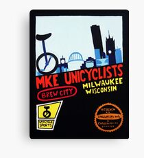 MKE Unicyclists Canvas Print