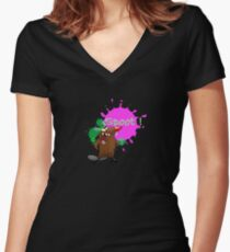 Spoot Women's Fitted V-Neck T-Shirt