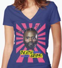 Death Grips - No Love Desu Web Women's Fitted V-Neck T-Shirt