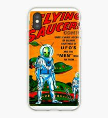 Retro Vintage Comic Book Cover Flying Saucers no.1, UFO iPhone Case