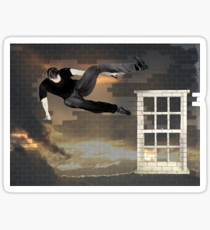 just another parkour in the wall Sticker