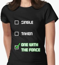 One with the Force (Green) Women's Fitted T-Shirt