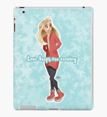 Love keeps me moving iPad Case/Skin