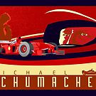 michael schumacher Ferrari racing poster by SFDesignstudio