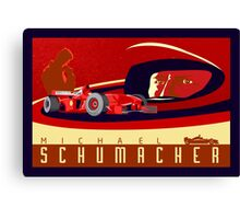 michael schumacher Ferrari racing poster Canvas Print