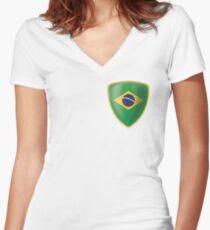 Brasil soccer team is the best Women's Fitted V-Neck T-Shirt