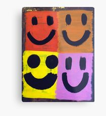 Abstract Jackson Pollock Painting Original Art Titled: More Smiles Metal Print