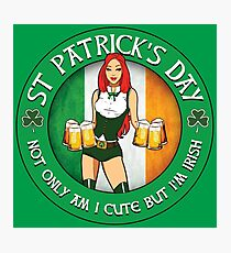 St Patrick's Day Gal Variant Photographic Print