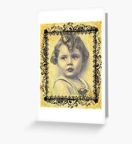 LITTLE GIRL WITH A CURL Greeting Card