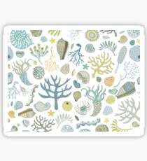 Natural Forms - nautical pattern by Cecca Designs Sticker