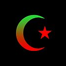 Star and Crescent (RED&GREEN) by Omar Dakhane