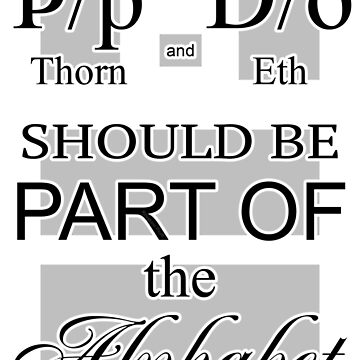 Alphabet Candidates: Thorn and Eth by RieselUniverse