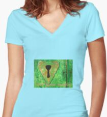 Love opens Hearts  Women's Fitted V-Neck T-Shirt