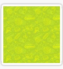 Fast Food Doodle Seamless Pattern Sticker