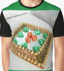 Chocolate Geometry - Orange Crisp and Noisette Triangles Graphic T-Shirt