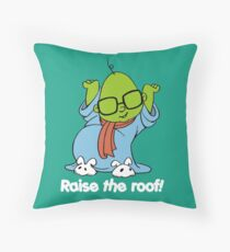 Muppet Babies - Bunsen - Raise The Roof - White Font Throw Pillow